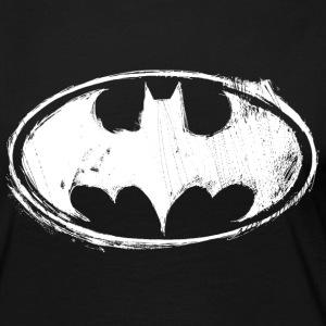 Batman Dark white Women T-Shirt - Långärmad premium-T-shirt dam