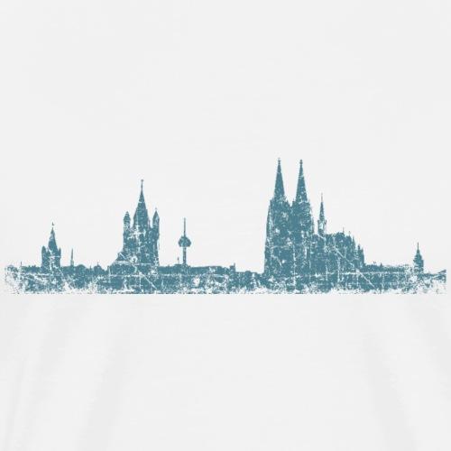 Stadt Köln Skyline Vintage Blau