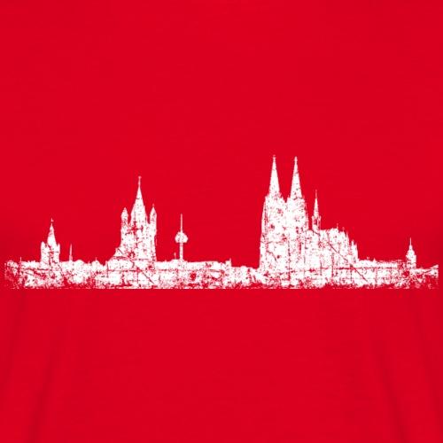 Stadt Köln Skyline Vintage Weiß