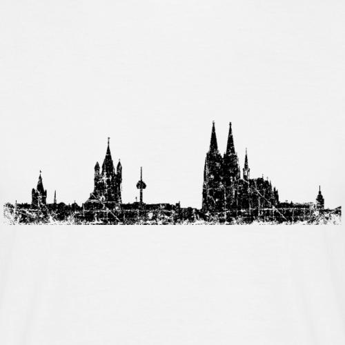 Stadt Köln Skyline Vintage Schwarz