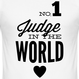 Best judge of the world T-Shirts - Men's Slim Fit T-Shirt
