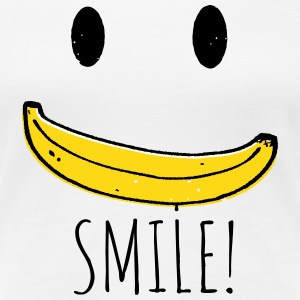 Coole Retro Smiley Banana smile sprüche T-Shirts - Frauen Premium T-Shirt