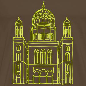 Berlin Neue Synagoge Berlin neon-gelb Berlin-T-shirt