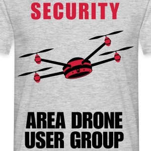 DRONE - SECURITY AREA  - T-shirt Homme