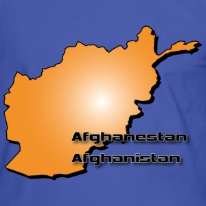 Afghanistan country map in 3D style T-Shirts - Men's Ringer Shirt