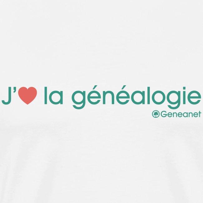 T-shirt qualité supérieure homme - J'aime la généalogie