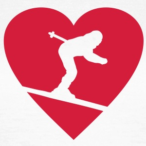I love Skiing T-Shirt - Frauen T-Shirt