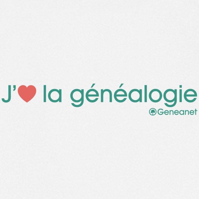 Tablier - J'aime la généalogie
