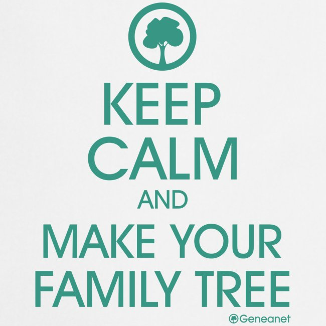 Tablier - Keep calm and make your family tree