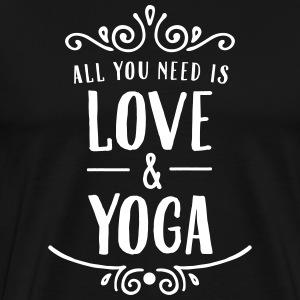 ALl You Need Is Love & Yoga Magliette - Maglietta Premium da uomo