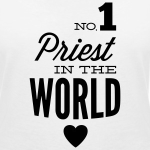 Best priest of the world T-Shirts - Women's V-Neck T-Shirt
