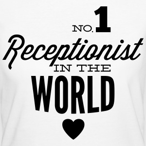 Best receptionist in the world T-Shirts - Women's Organic T-shirt