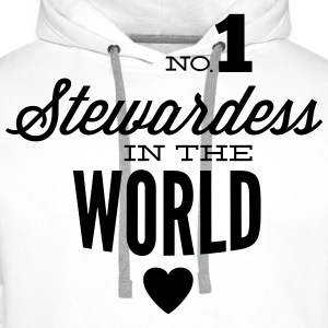 Best stewardess of the world Hoodies & Sweatshirts - Men's Premium Hoodie