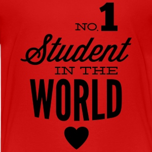 Best student of the world Shirts - Teenage Premium T-Shirt