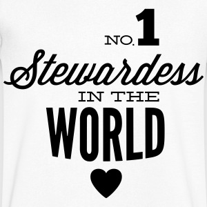 Best stewardess of the world T-Shirts - Men's V-Neck T-Shirt