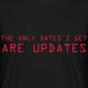 only updates for me T-shirts - Herre-T-shirt