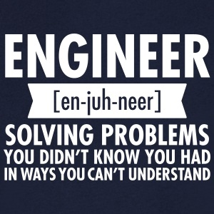 Engineer - Solving Problems Camisetas - Camiseta de pico hombre