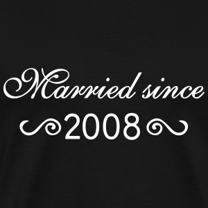 Married since 2008 T-Shirts - Männer Premium T-Shirt