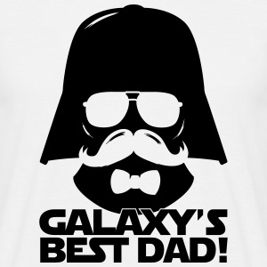 Funny Best Dad of the Galaxy statement T-Shirts - Men's T-Shirt