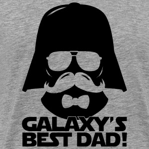 Funny Best Dad of the Galaxy statement T-Shirts - Men's Premium T-Shirt