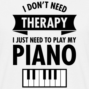 Therapy - Piano T-Shirts - Männer T-Shirt