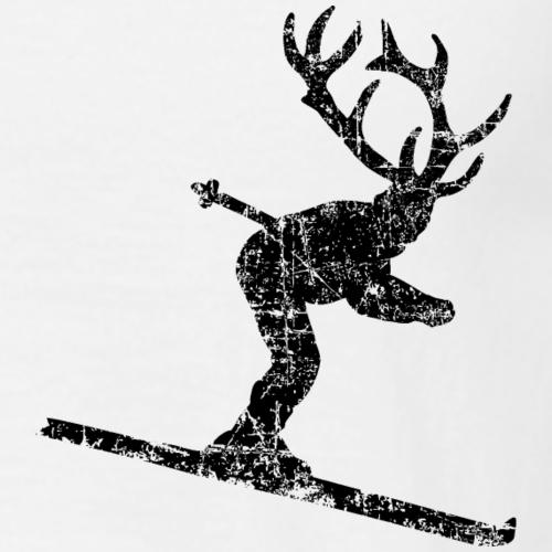 Skihirsch Vintage Schwarz (Skifahrer)