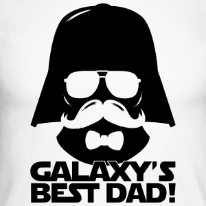 Funny Best Dad of the Galaxy statement Langarmshirts - Männer Baseballshirt langarm