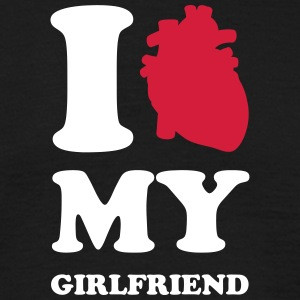 I heart my girlfriend Camisetas - Camiseta hombre