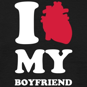 I heart my boyfriend T-shirts - Herre-T-shirt