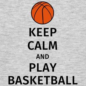 keep calm and play basketball Camisetas - Camiseta hombre