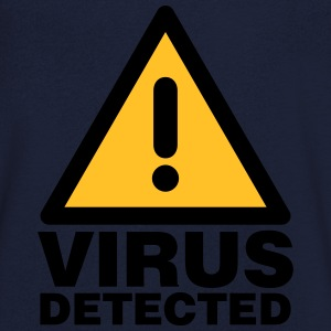 Virus detected T-Shirts - Men's V-Neck T-Shirt