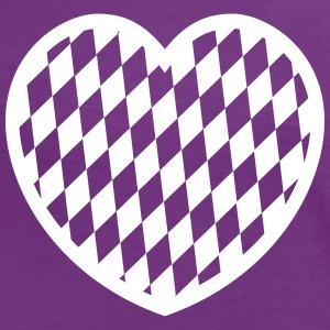 Plaid heart - Women's Ringer T-Shirt