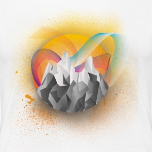 Low Poly Bergmotiv - Frauen Premium T-Shirt