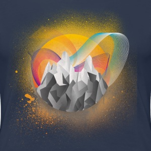 Bergmotiv Low Poly - Frauen Premium T-Shirt