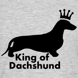 KING OF DACHSHUND - Männer T-Shirt
