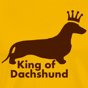 KING OF DACHSHUND - Männer Premium T-Shirt
