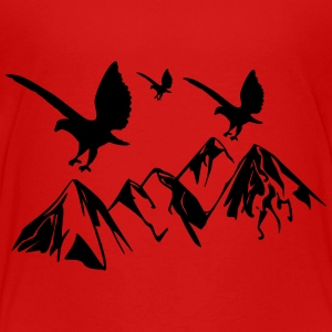 Birds fly over mountains - Teenage Premium T-Shirt