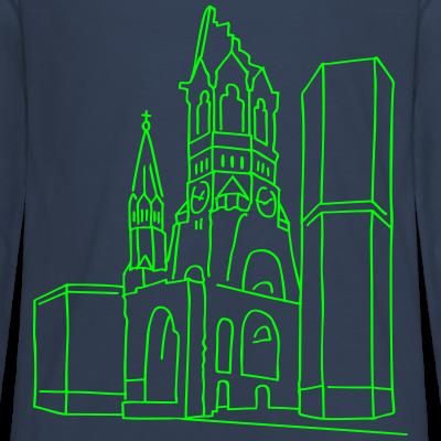Gedächtniskirche  neon-grün Kurfürstendamm Berlin-T-shirt