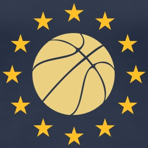 Basketball in the stars circle - Women's Premium T-Shirt