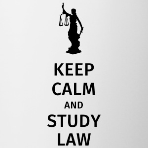 keep calm and study law Bouteilles et Tasses - Tasse