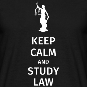 keep calm and study law T-skjorter - T-skjorte for menn