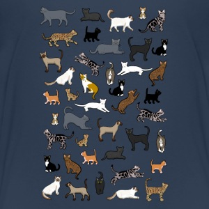many cat pixel Skjorter - Premium T-skjorte for barn