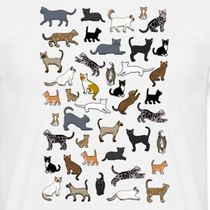 many cat pixel T-shirts - Herre-T-shirt