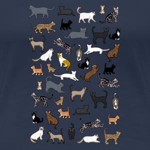 many cat pixel T-Shirts - Frauen Premium T-Shirt