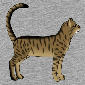 Striped cat is Shirts - Teenage Premium T-Shirt