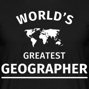 World's Greatest Geographer T-shirts - Mannen T-shirt