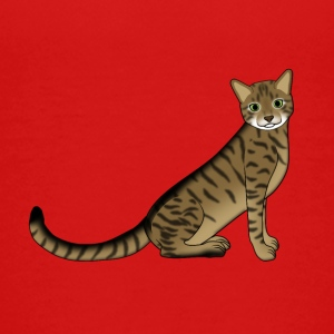 striped cat sitting Shirts - Kids' Premium T-Shirt