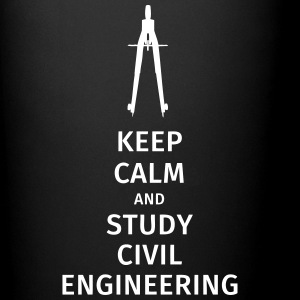 keep calm and study civil engineering Tassen & Zubehör - Tasse einfarbig