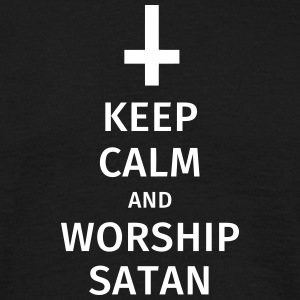 keep calm and worship satan T-Shirts - Männer T-Shirt