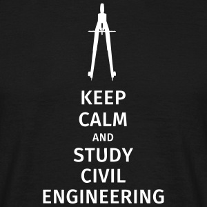 keep calm and study civil engineering T-Shirts - Men's T-Shirt